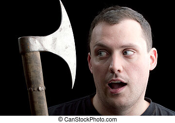 A Man Getting the Axe - A funny play on words for getting...