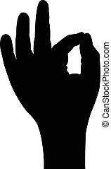 a man hand silhouette