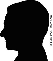 a man head black color silhouette