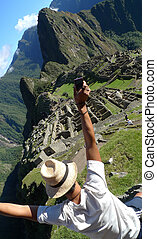 A man in Machu Picchu, Peru