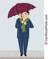 A Man in the Rain