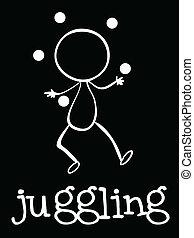 A man juggling