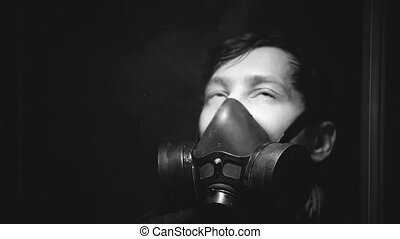 A man loses consciousness from poisoning by toxic chemicals...