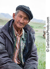 A man of Asian nationality, Kazakh or Altaian