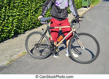 A man on bike