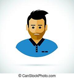 A man profile cartoon illustration
