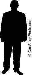 a man silhouette vector