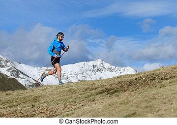 A man trains for ultra run trail