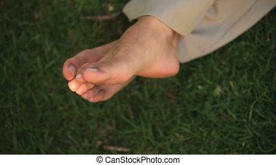 A man\'s feet