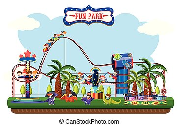 A map of fun park