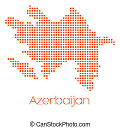 Map of the country of Azerbaijan