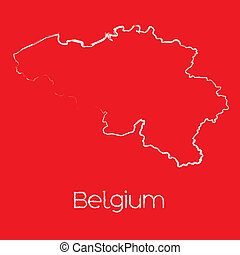 Map of the country of Belgium