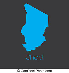 Map of the country of Chad
