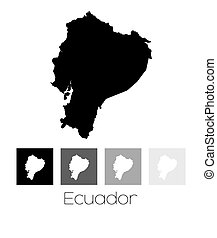 Map of the country of Ecuador