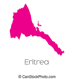 Map of the country of Eritrea