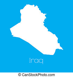 Map of the country of Iraq