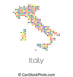 Map of the country of Italy