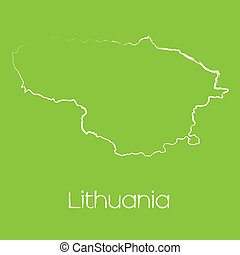 Map of the country of Lithuania