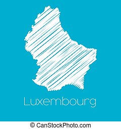 Map of the country of Luxembourg