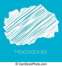 Map of the country of Macedonia