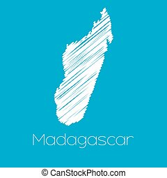 Map of the country of Madagascar