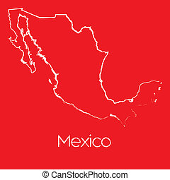 Map of the country of Mexico