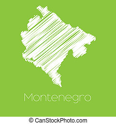 Map of the country of Montenegro - A Map of the country of...