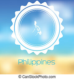 Map of the country of Philippines