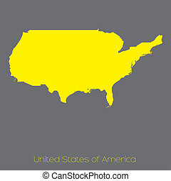 Map of the country of United States of America