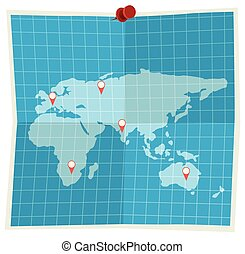 A map on white background