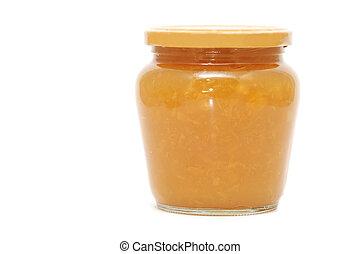 marmalade - a marmalade jar isolated on a white background