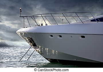 A massive Boat in a parking berth in Dubai Marina, These...