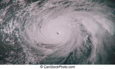 A massive hurricane churning in the ocean