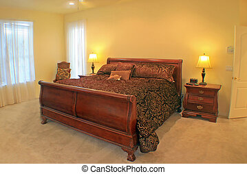 Master Bedroom - A Master Bedroom with a sleigh bed.