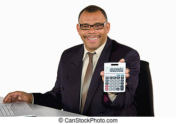 one million - a mature African-American businessman holding ...