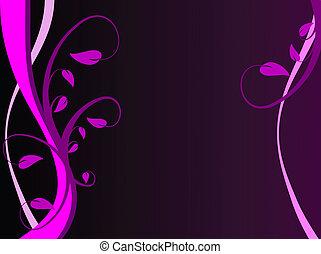 A Mauve Floral Vector Illustration
