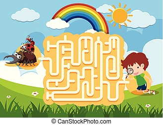 A Maze Puzzle Game