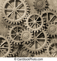 Mechanical Background - A Mechanical Background with Gears...
