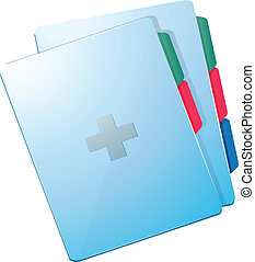 A medical record - Illustration of a medical record on a...