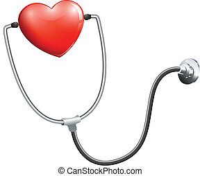 Illustration of a medical stethoscope on a white background