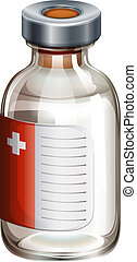 A medical vaccine - Illustration of a medical vaccine on a ...