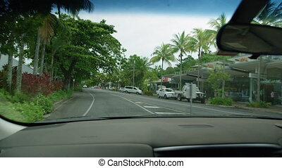 A medium shot of cars on streets - A medium shot of the road...
