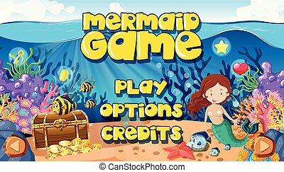 A Mermaid Underwater World Game Themplate