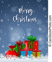 A merry christmas card template