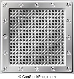 Metal Background - A Metal Background with Holes and Screws