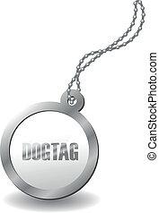 metal dog tag - a metal dog tag