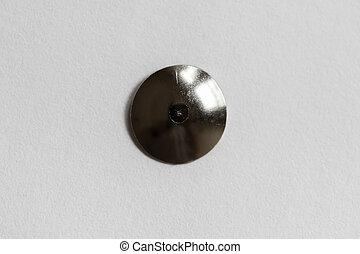 Thumb Tack Head - a Metal Thumb Tack Head close up
