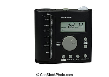 a metronome on a white background