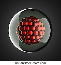 A micro cell scientific illustration