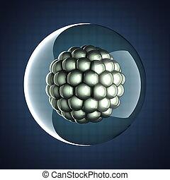 A micro cell scientific illustration - A single micro cell...